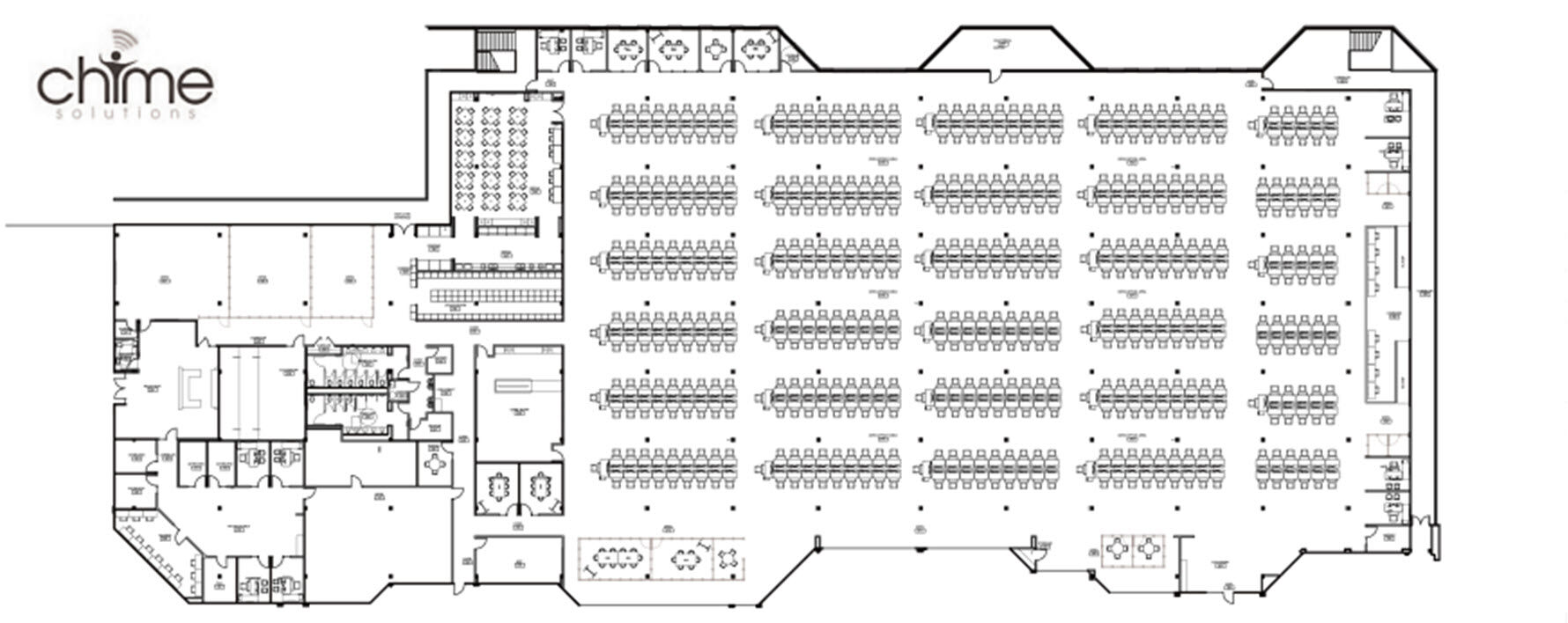 floor plan for chime solutions space  image