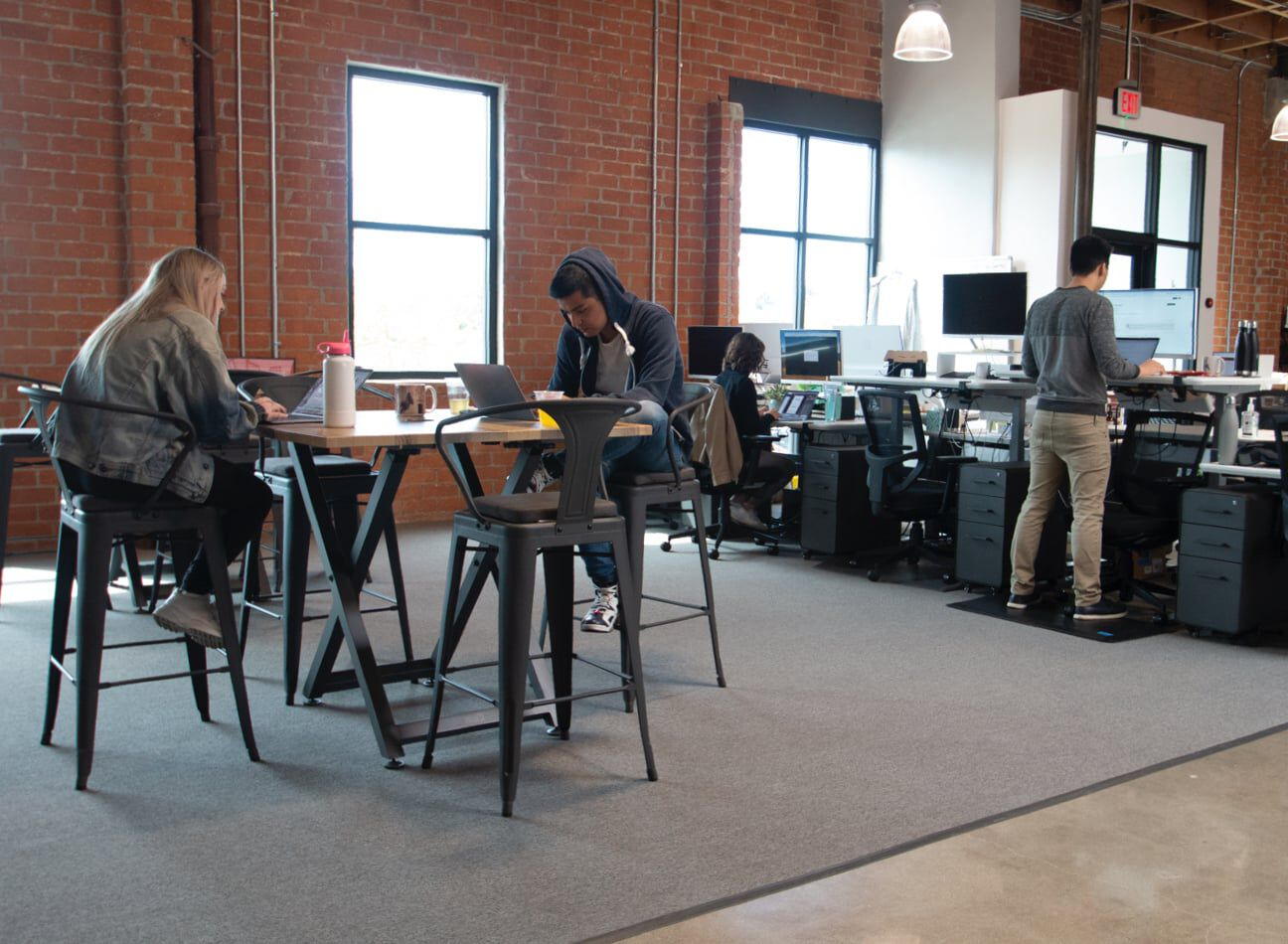 vari office furniture in use at hawke media  image