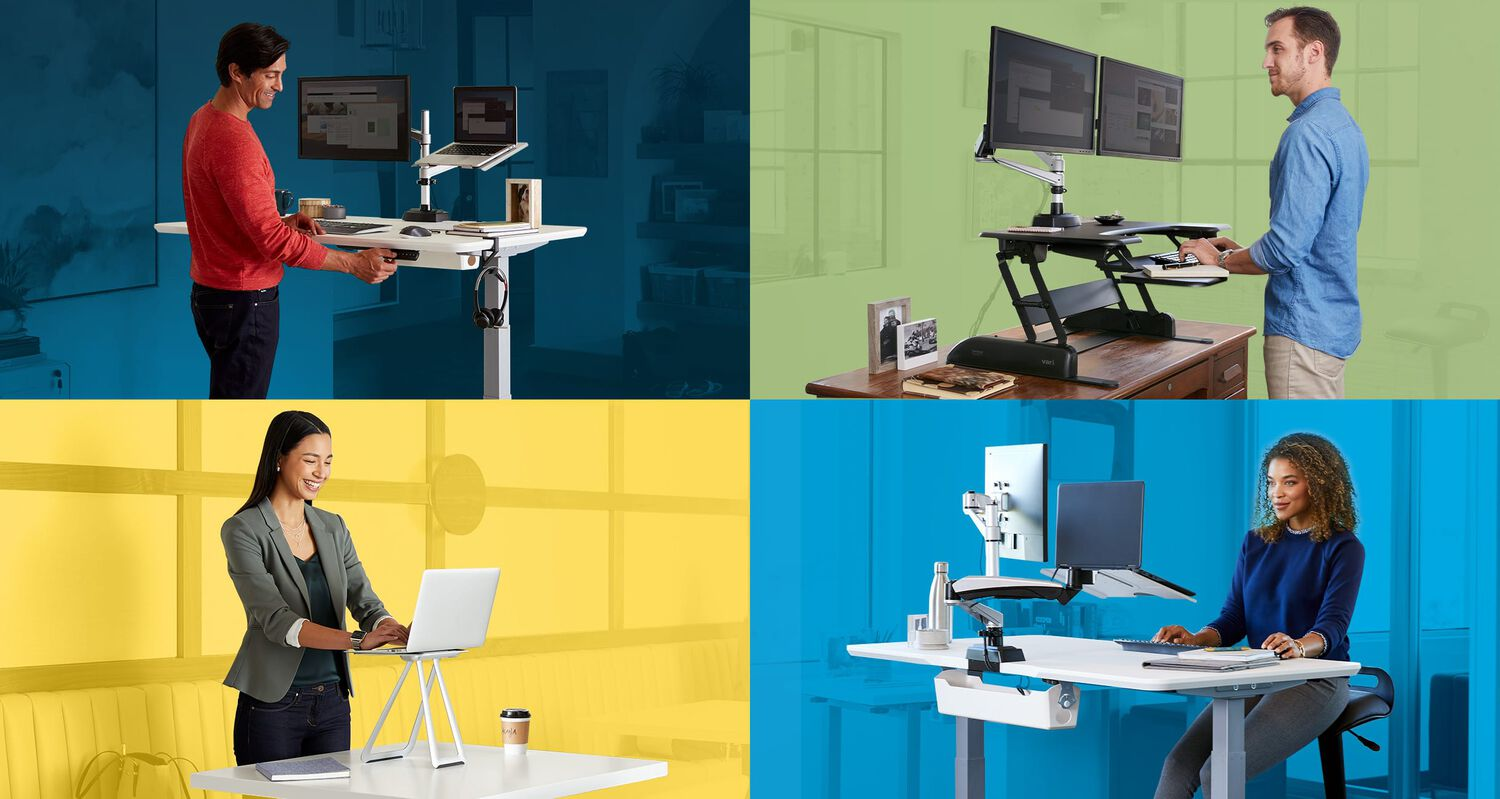 4 professionals working in different settings on a variety of vari product setups