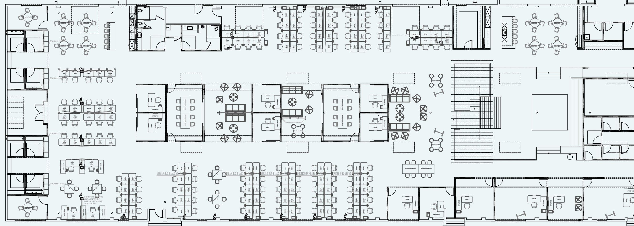 floor plan for hawke media space  image