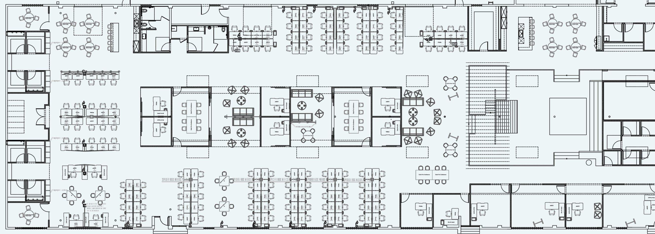 floor plan for hawke media space  image