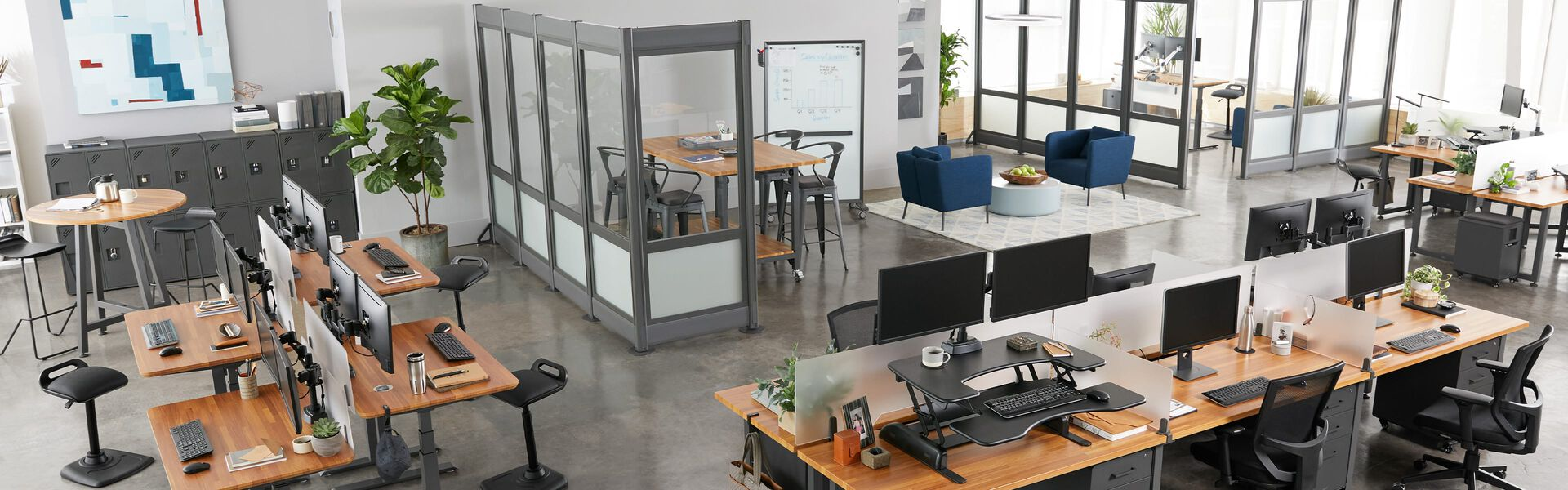 Open office as seen from above with Vari product