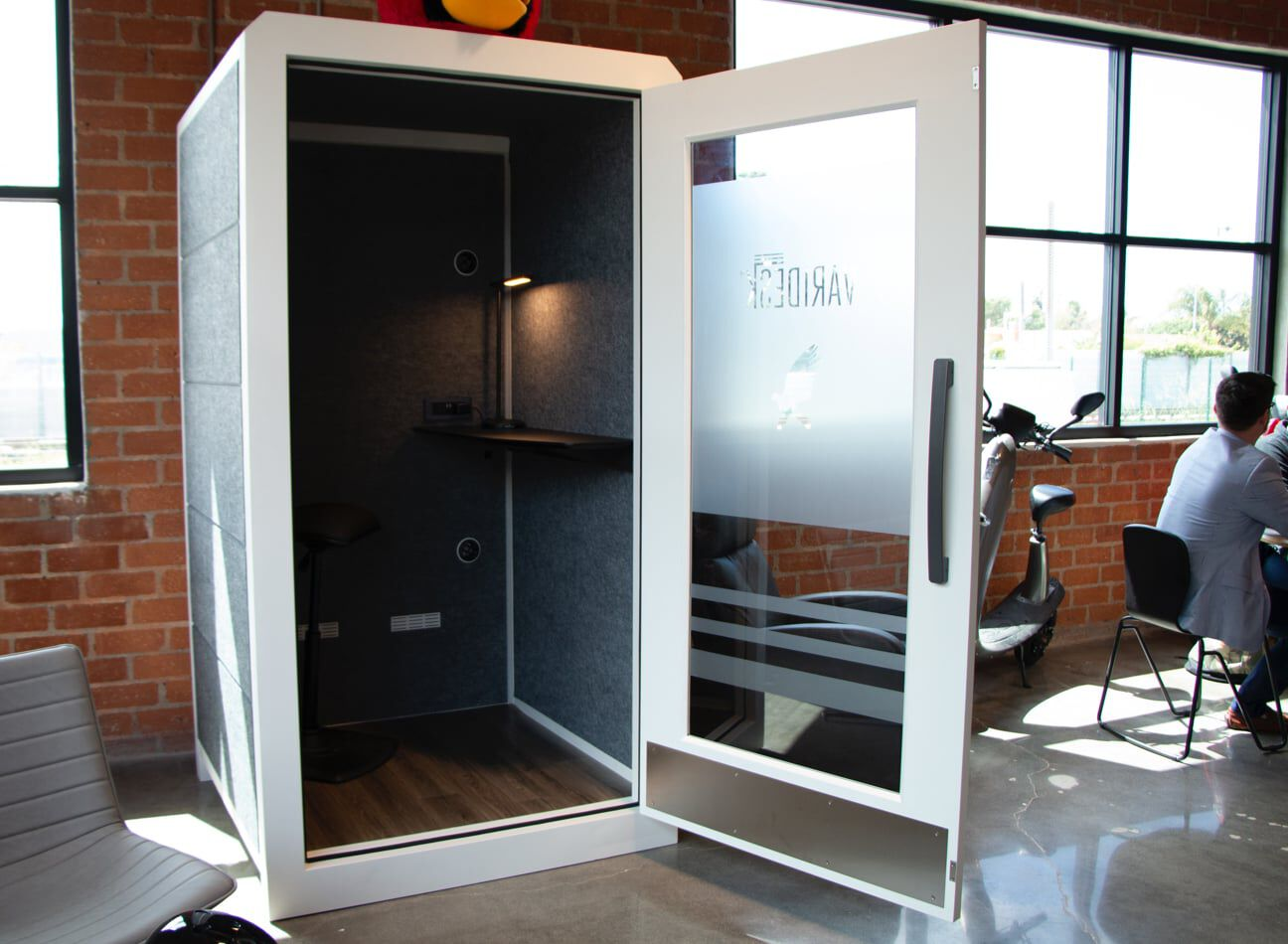 vari privacy booth at hawke media  image