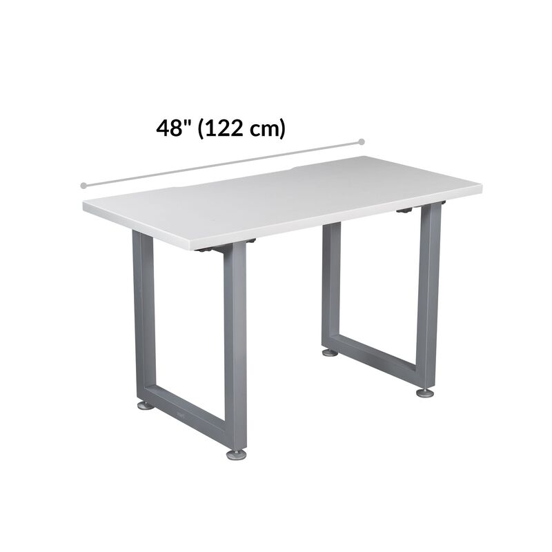 Table 48x24 White is 33.5 inches deep and 42.5 inches wide image number null