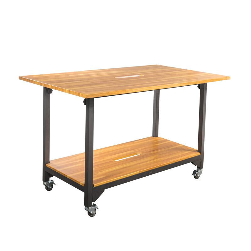 vari standing conference table in butcher block image number null