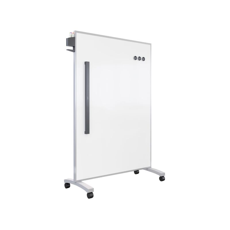 Mobile White Board 48x66 Silver in isolation image number null