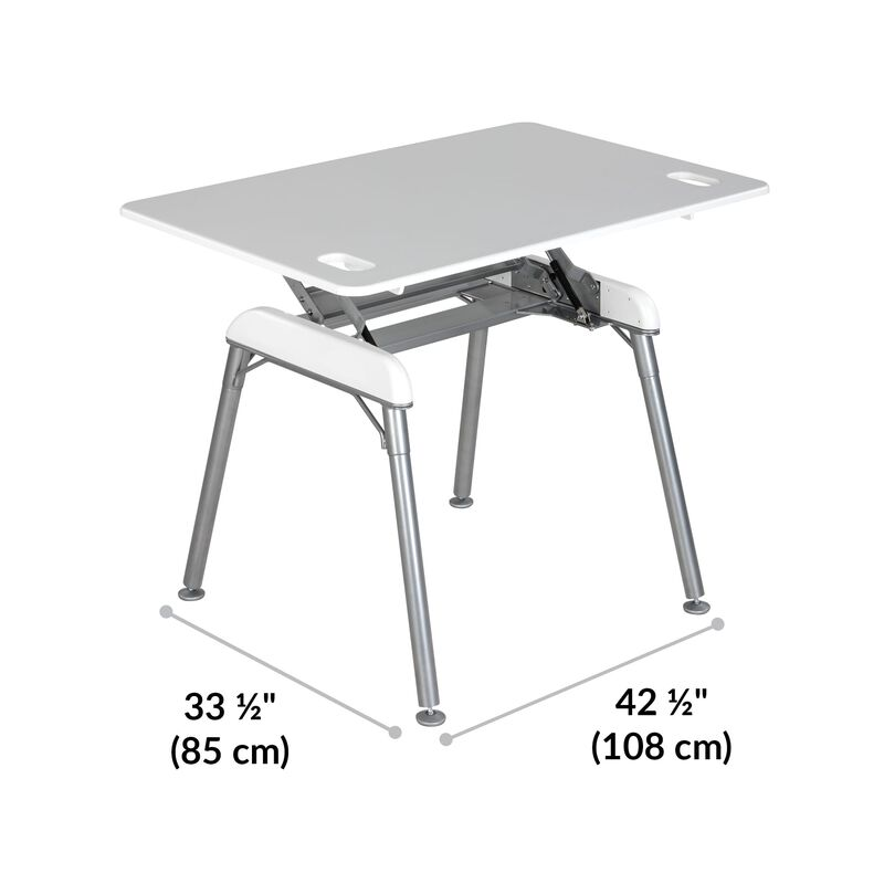 Standing Desk 48x32 White base is 33.5 inches deep and 42.5 inches wide image number null