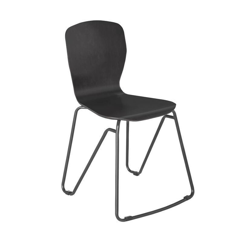 Wood Chair in Dark Gray on white background image number null