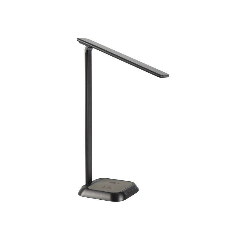 vari LED task lamp and wireless charger shown in black image number null