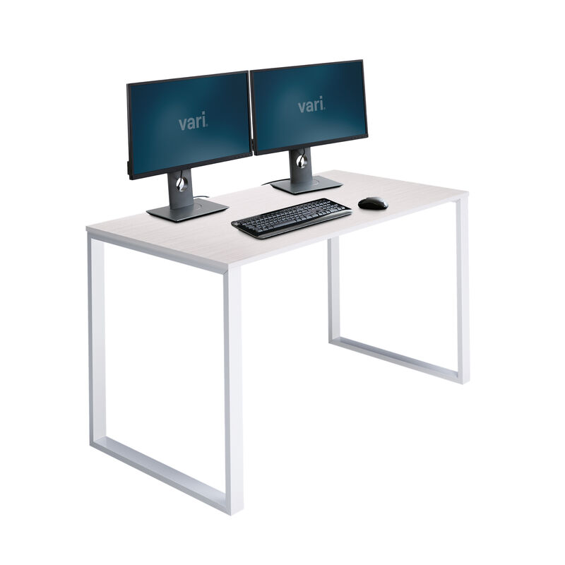 Essential Desk 48x24 Two Leg in ash wood on white background image number null