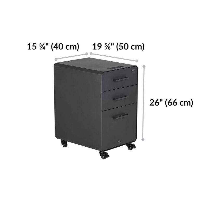 File Cabinet Slate is 26 inches tall image number null