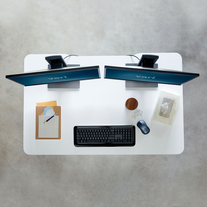 Overhead view of Electric Standing Desk 48x30 White image number null