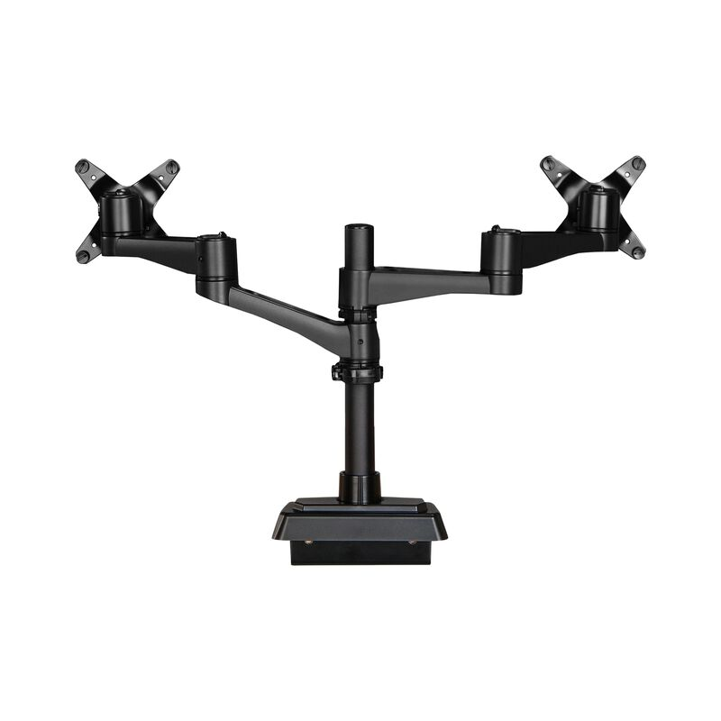 dual monitor arm 180 degree on white background image number null