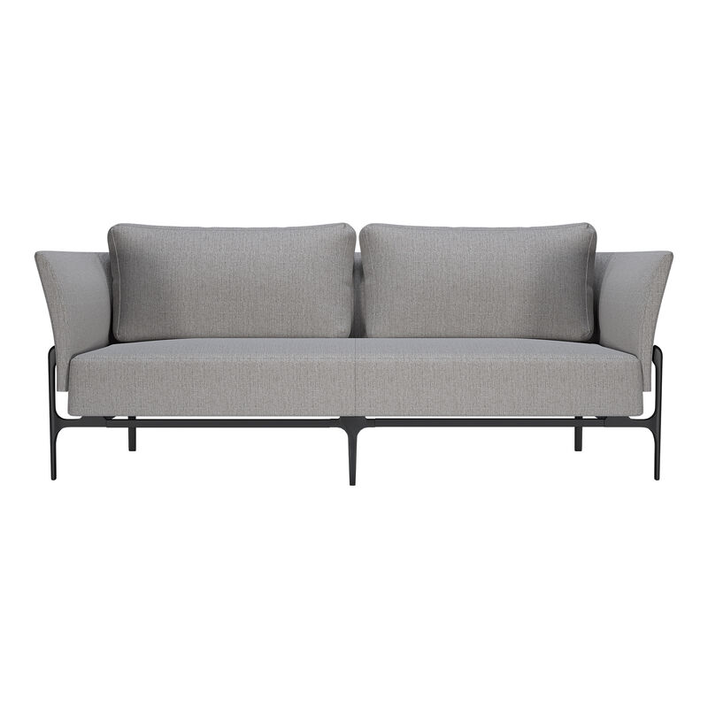 contemporary three-seat sofa in silver grey image number null