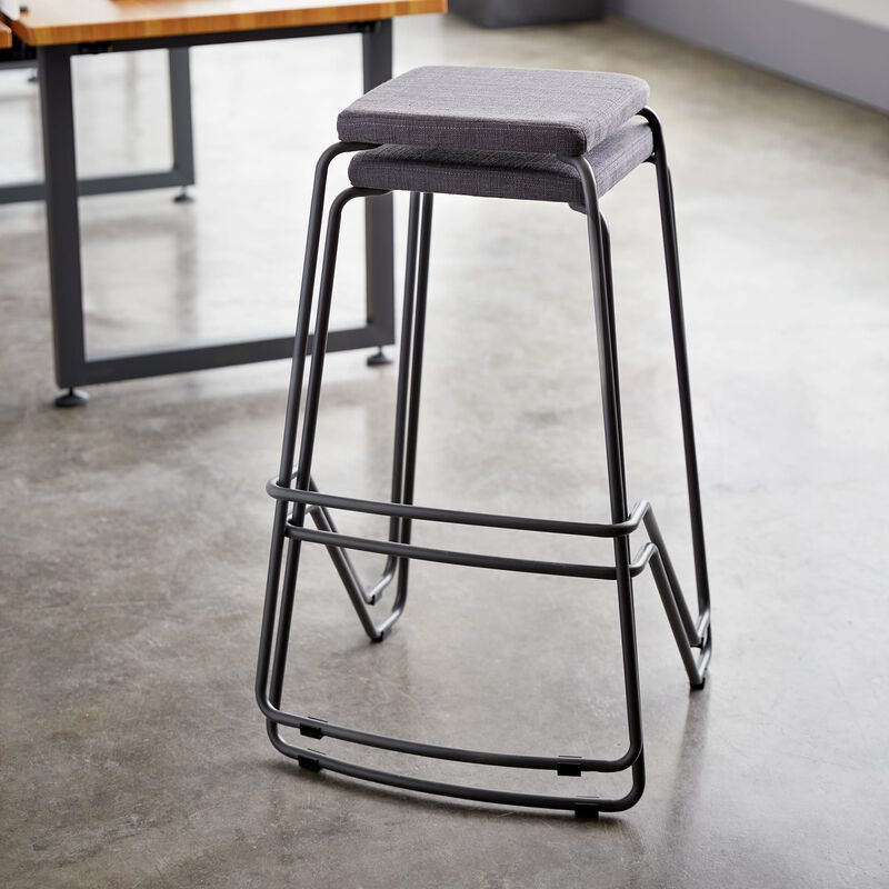 Meeting Stool in slate stacked in office image number null