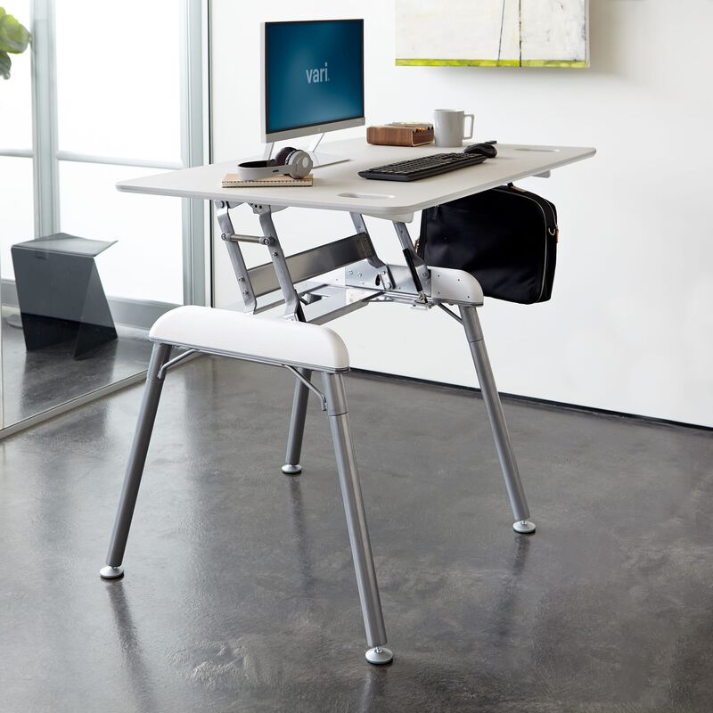 Standing Desk 48x32 White in raised position at office image number null