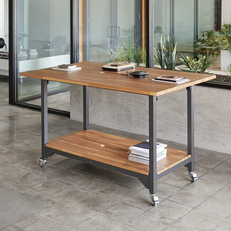 Standing Conference Table Butcher Block in office image number null