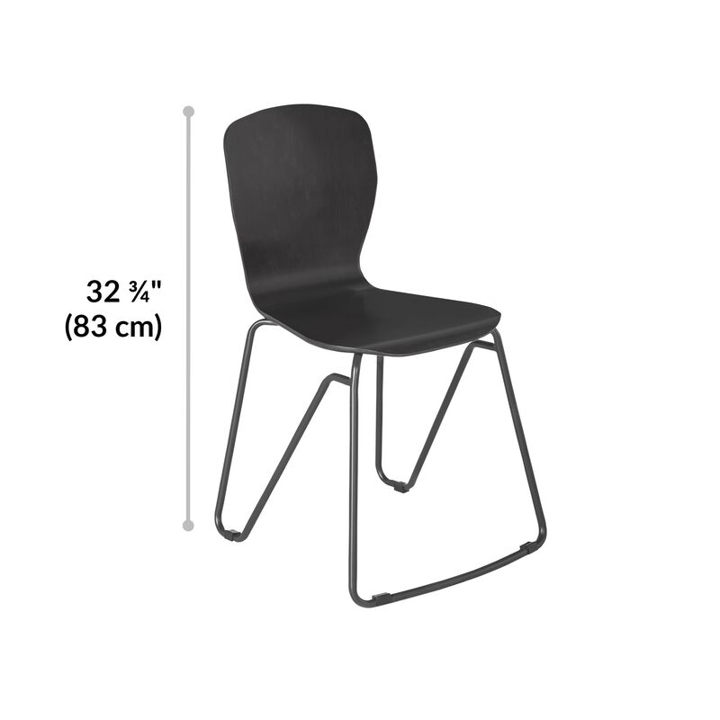 Wood Chair in Dark Gray is 32.75 inches tall image number null