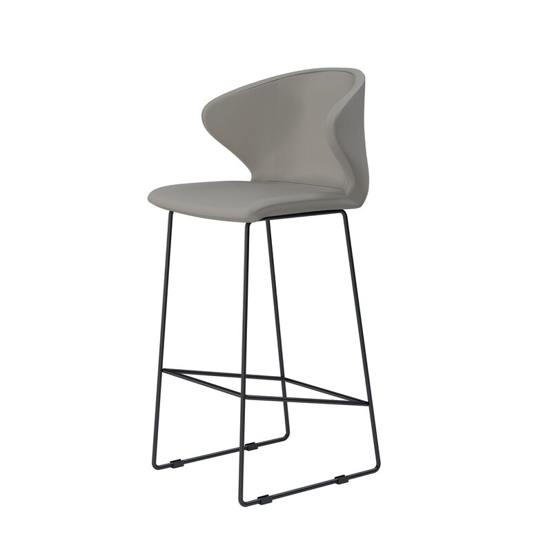 tall cafe chair in sand grey image number null
