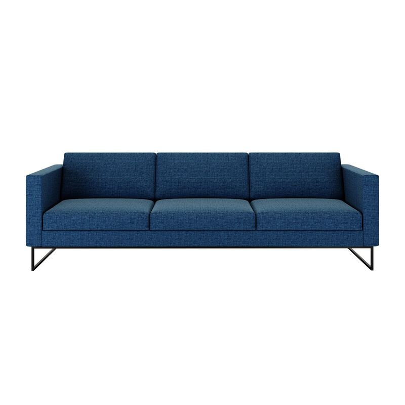 three-seat sofa in navy on white background image number null