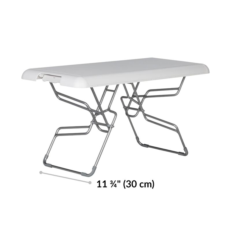 VariDesk Soho in white has a base 11.75 inches wide image number null