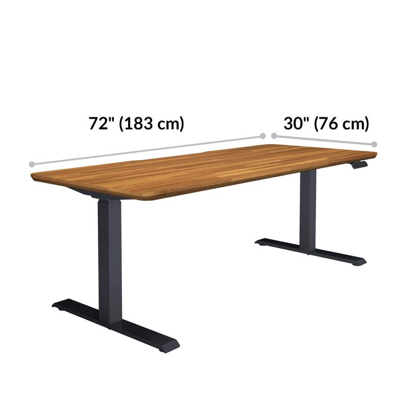 Electric Standing Desk 72x30 is 72 inches wide and 30 inches long  image number null