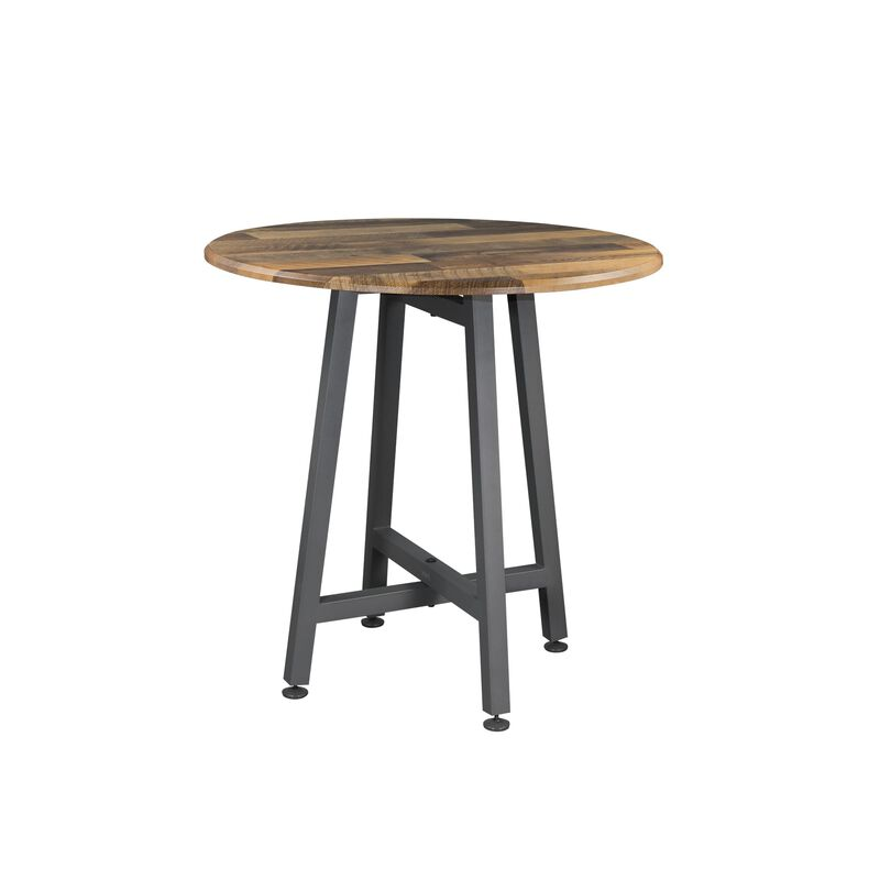 standing round table in reclaimed wood image number null