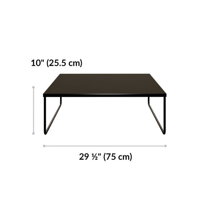 sectional table is 10 inches tall and 29 and a half inches wide image number null