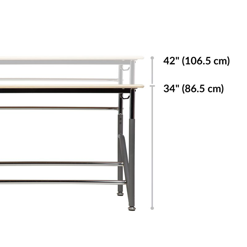 Standing School Desks 5-12 for Two Maple base is 19.5 inches deep image number null