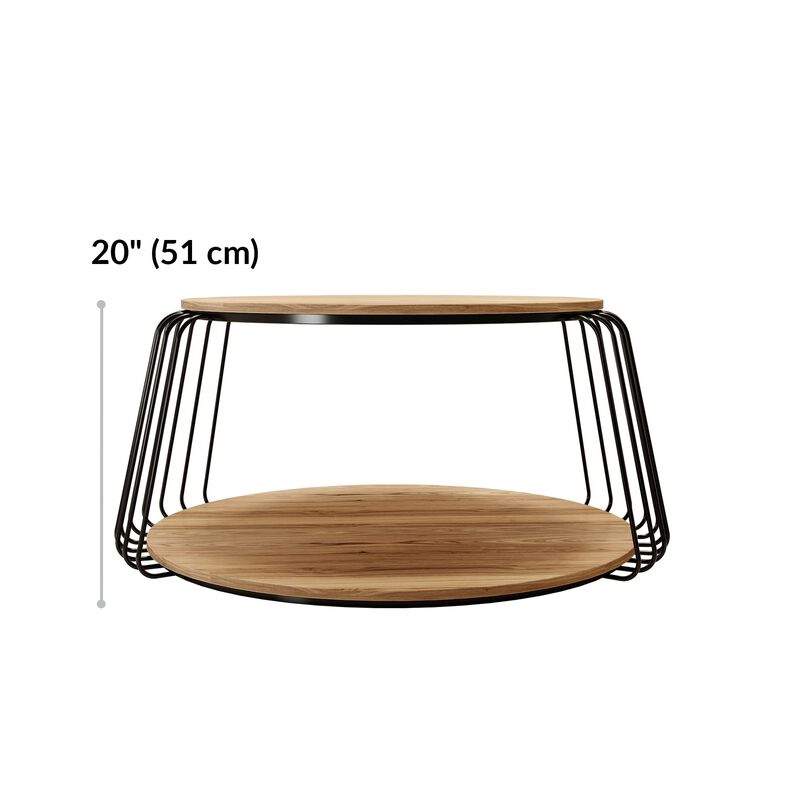 round coffee table is 20 inches tall  image number null