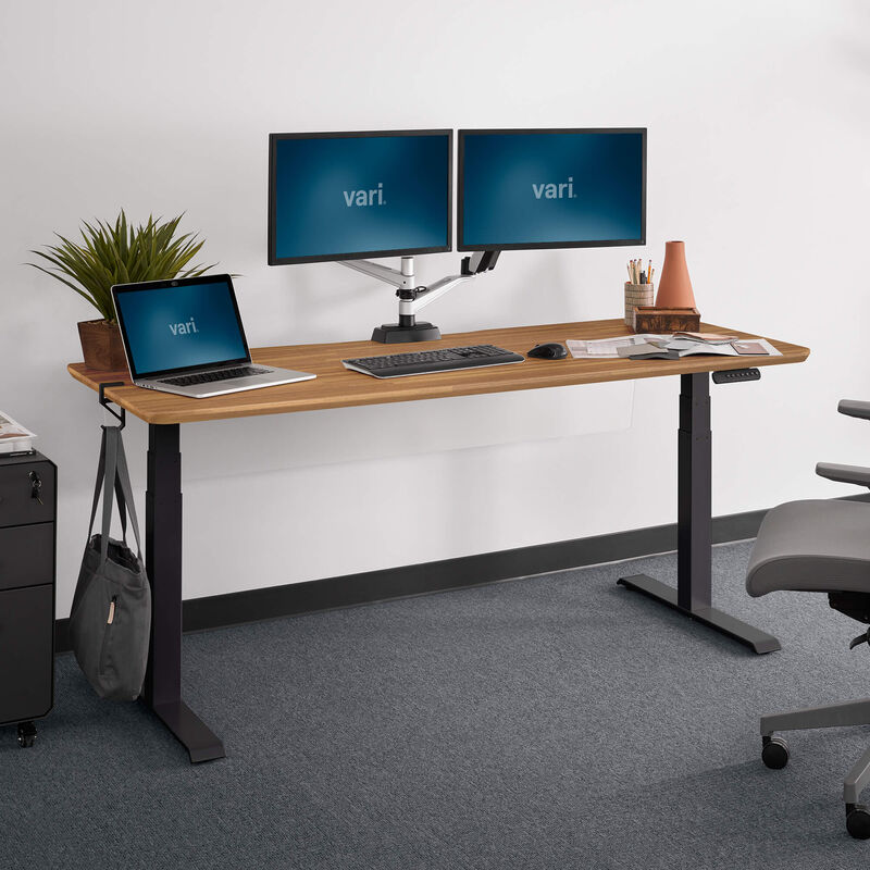 Electric standing desk 72x30 lowered in office image number null