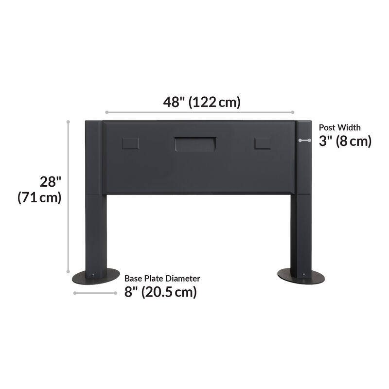 power beam is 48 inches wide and 28 inches tall  image number null