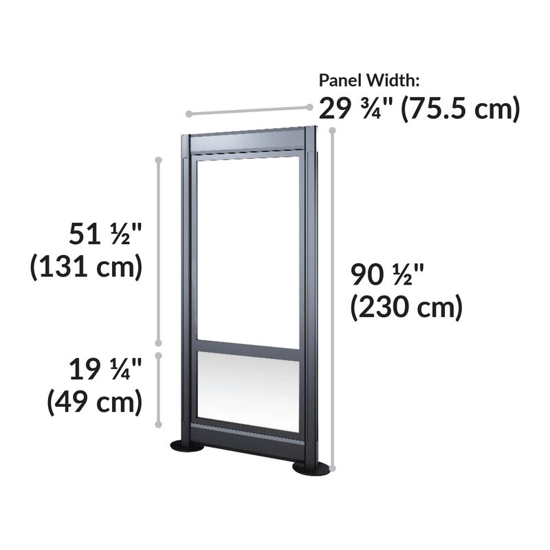 quickflex wall panel is 90 and a half inches tall and 29 and 3 quarter inches wide image number null