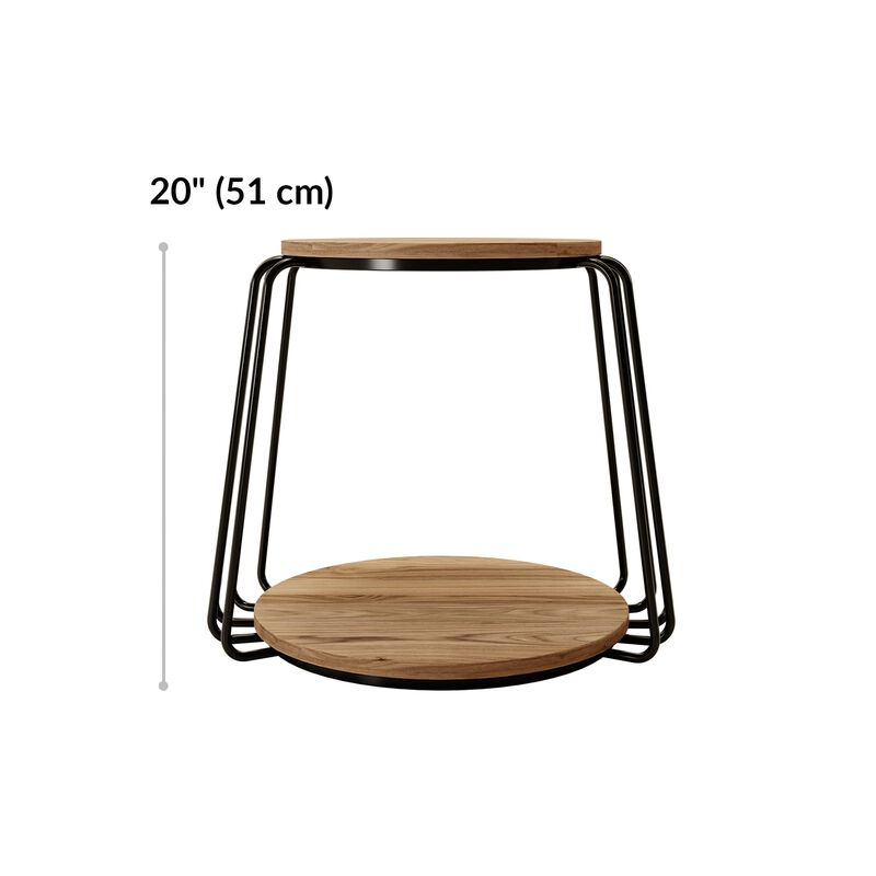 round side table is 20 inches tall  image number null