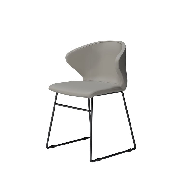 sand grey cafe chair on white background image number null