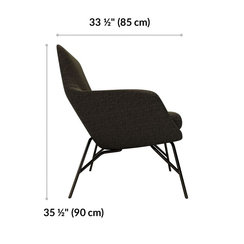arm chair is 33 and a half inches deep and 35 and a half inches tall image number null