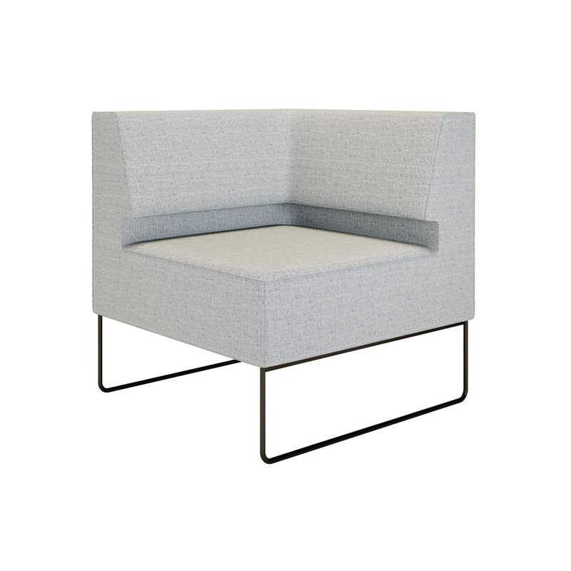 light grey corner seat shown on white background image number null