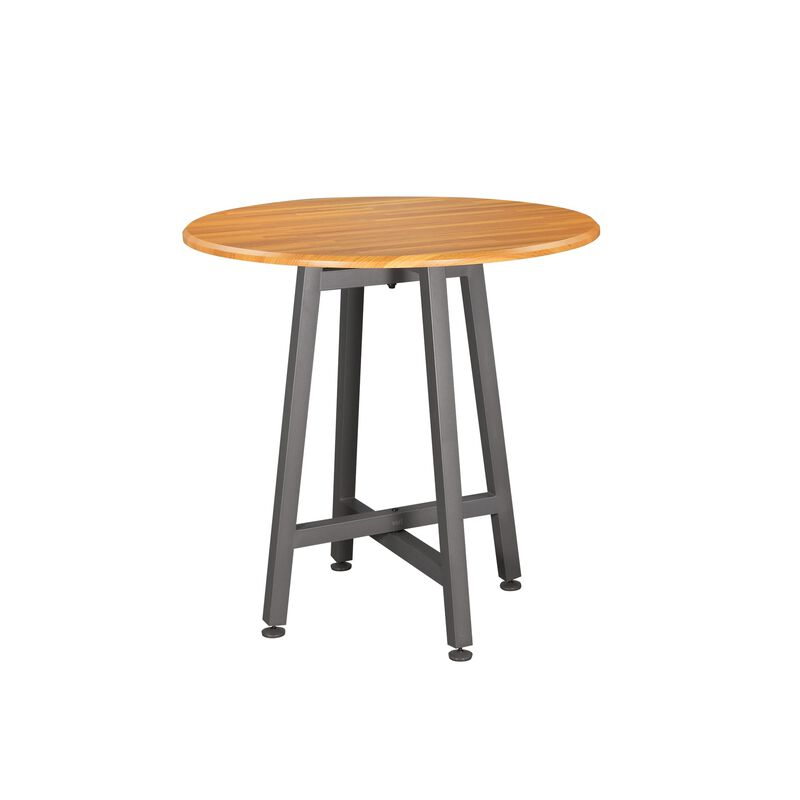 vari Standing Round Table in Butcher Block image number null