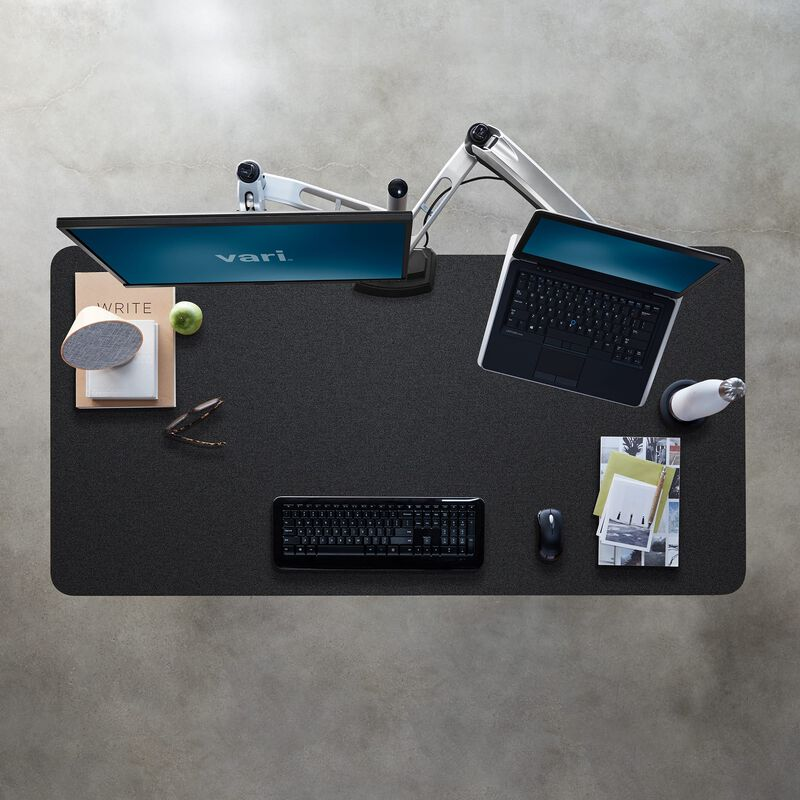 Overhead view of Electric Standing Desk 60x30 Black image number null