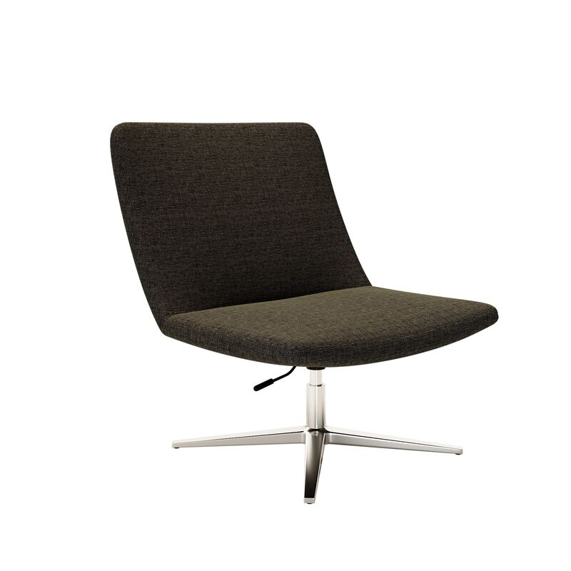 deep grey lounge chair on white background image number null