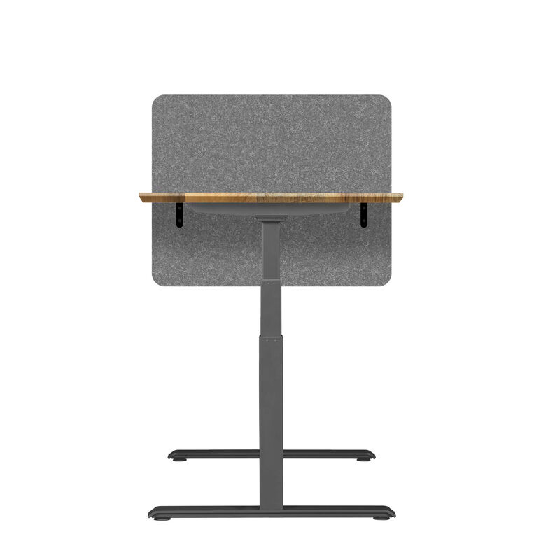 Vari privacy and modesty felt panel 30 mounted on electric standing desk image number null