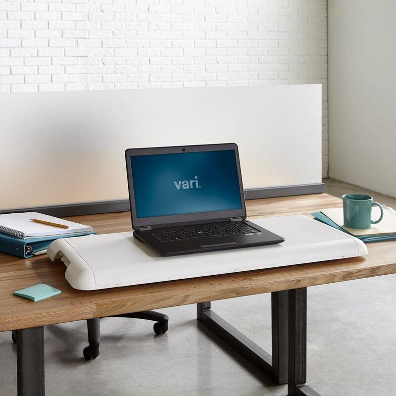 VariDesk Soho in white lowered on existing desk in office image number null