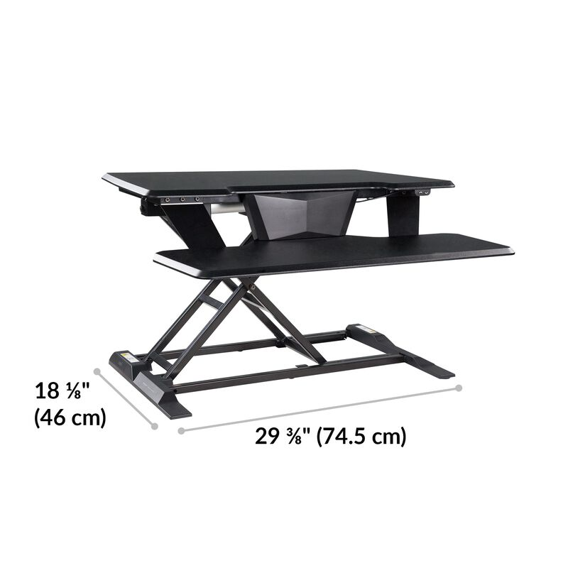 VariDesk® Electric Pro Plus™ 32 Black dimensions image number null