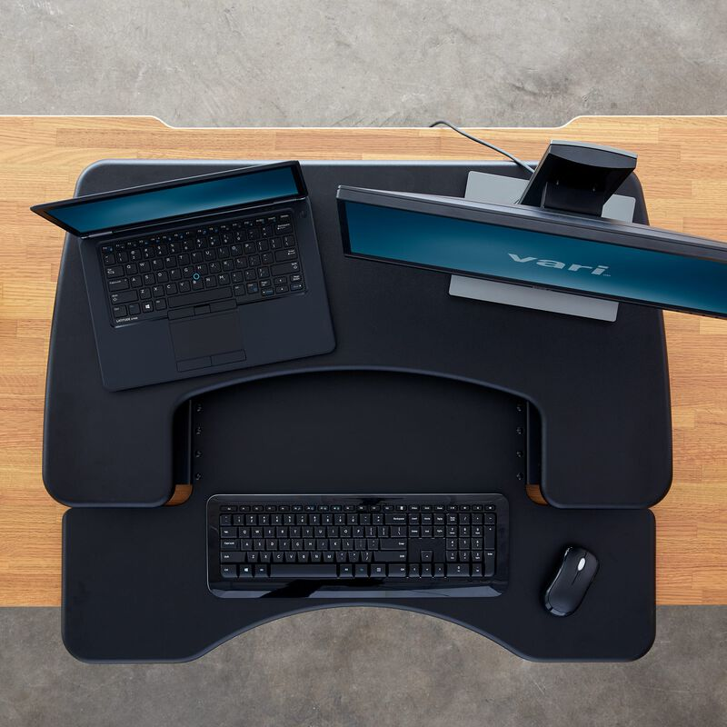 Overhead view of VariDesk® Pro Plus™ 30 Black image number null