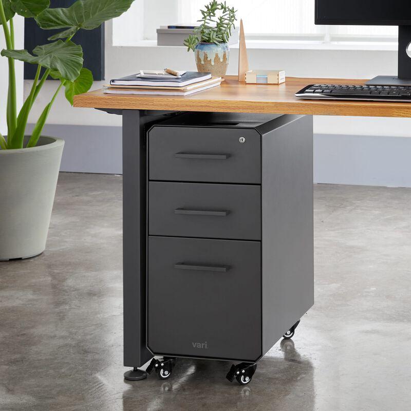 Slim File Cabinet Slate under desk in office image number null