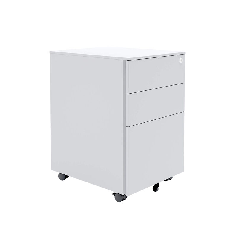 white essential file cabinet on white background image number null
