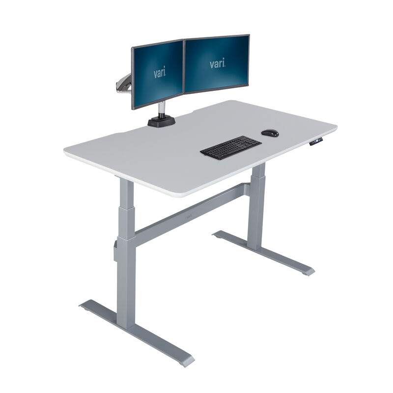 Electric Standing Desk 60x30 White in raised position image number null