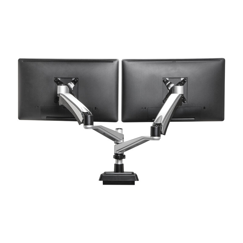 dual-monitor arm holding two monitors image number null