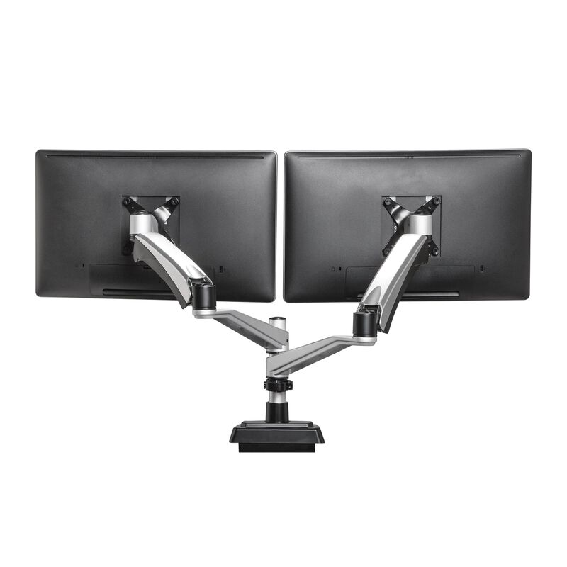 Dual-Monitor Arm stand with two monitors image number null