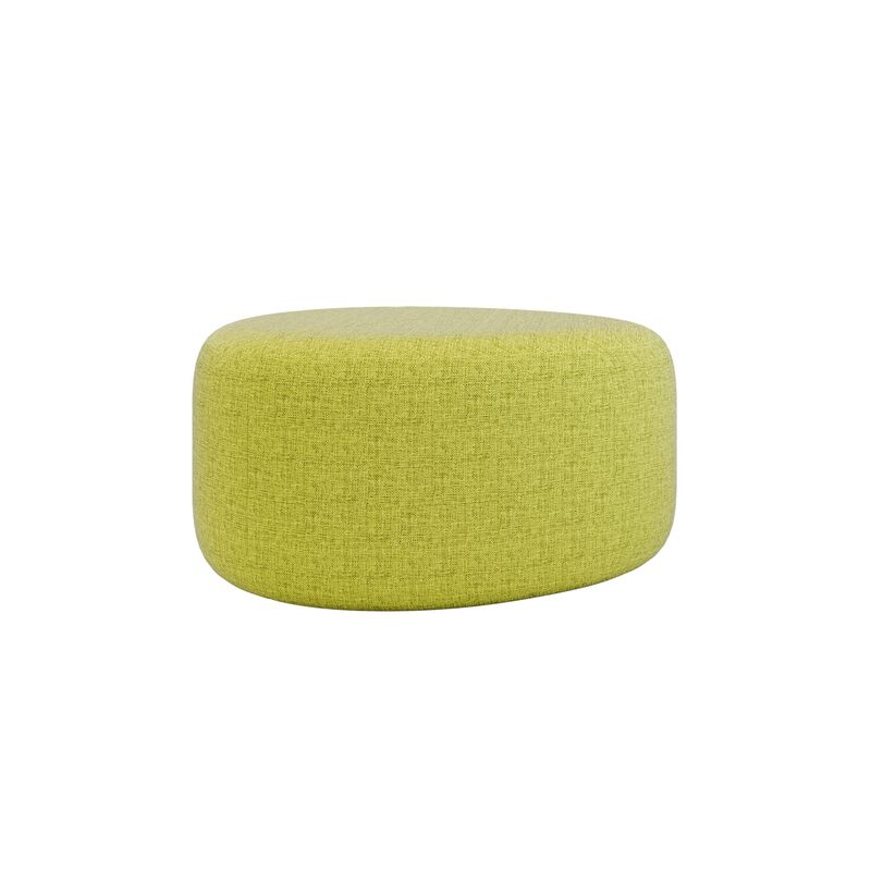 small light green ottoman on white background image number null